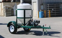 160 gallon cone bottom acid injection trailer