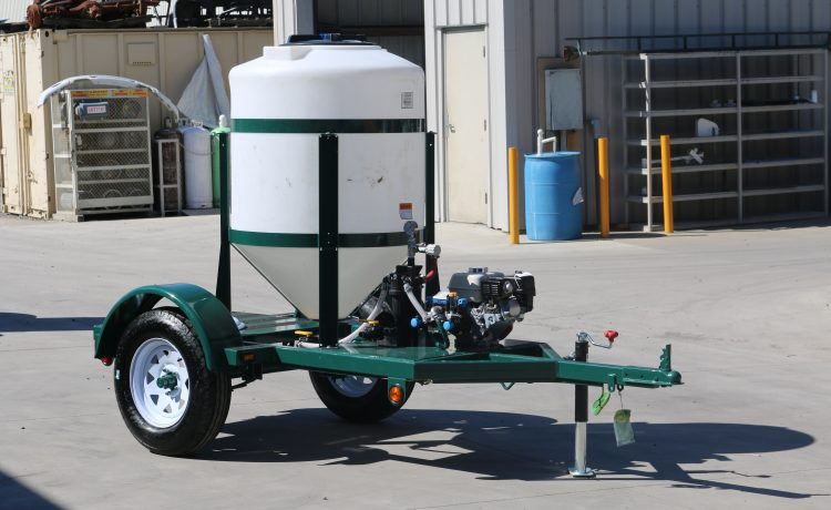 160 gallon cone bottom acid injection trailer