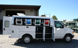 custom enclosed van